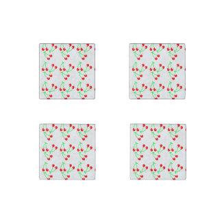 Red cherry summer fruit stone magnet