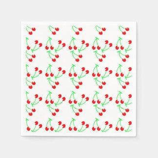 Red cherry summer fruit napkin
