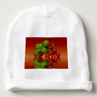 Red Cherry Tomatoes Basil Baby Beanie