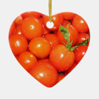 Red Cherry Tomatoes Ceramic Ornament