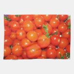 Red Cherry Tomatoes Kitchen Towels