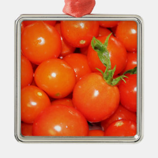 Red Cherry Tomatoes Metal Ornament
