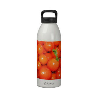 Red Cherry Tomatoes Reusable Water Bottle