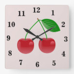 Red Cherry Wall Clock