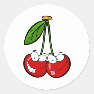 Red Cherry's Cartoon Characters Classic Round Sticker