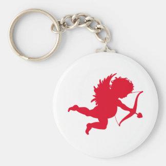 RED CHERUB SILHOUETTE.png Key Chain