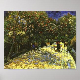 Red Chestnuts in Arles Park, Van Gogh Fine Art Poster