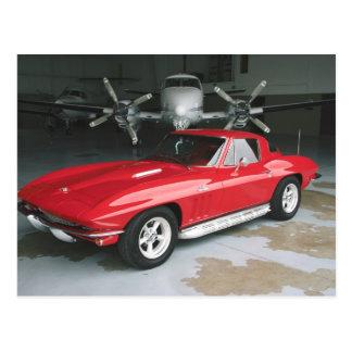 Red Chevrolet Corvette Post Card