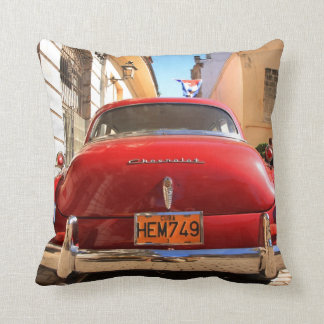 Red Chevrolet Throw Pillow