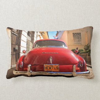 Red Chevrolet Throw Pillows