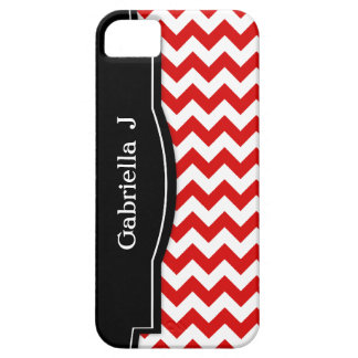 Red Chevron Black Frame iPhone 5 case