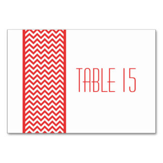 Red Chevron Border Table Card