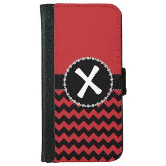 Red Chevron, Diamond Ribbon Flap iPhone 6 Wallet Case