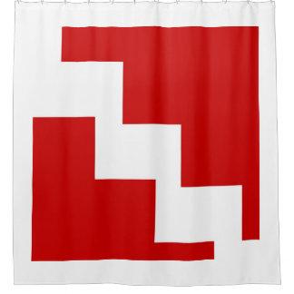 Red Chevron Shower Curtain