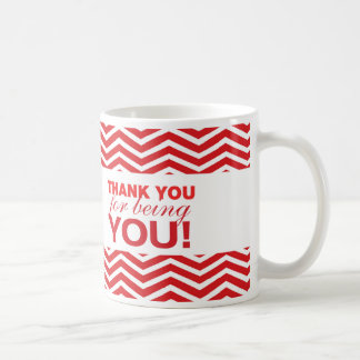 Red Chevron Thank You mug
