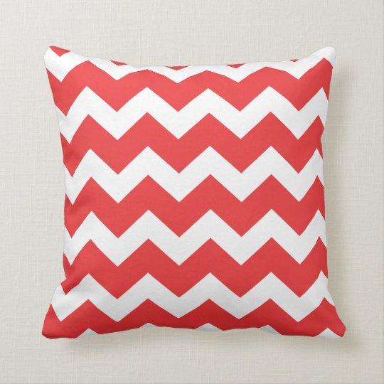 Red Chevron Throw Pillow