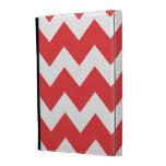 Red Chevron zig zag pattern iPad Case