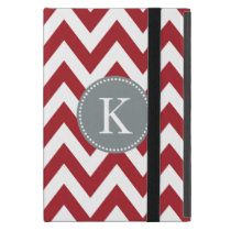 Red Chevron Zigzag Monogram Pattern Case For iPad Mini