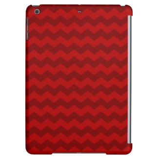 Red chevrons iPad air cases