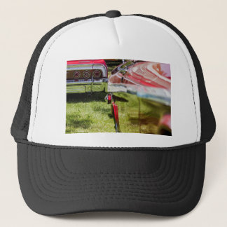 Red Chevy Impala Reflection Trucker Hat