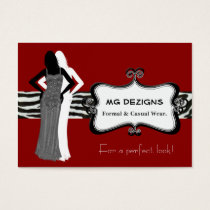 red chic fashion boutique Business Cards