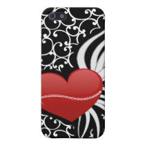 red chic heart 4 casing iPhone SE/5/5s case