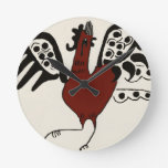 Red Chicken Clock