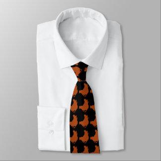 Red Chicken Hen Neck Tie