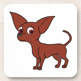Red Chihuahua Drink Coasters