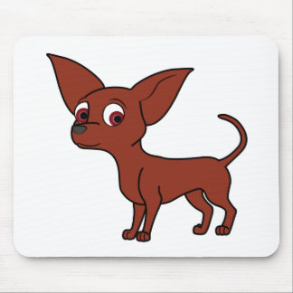 Red Chihuahua Mouse Pad