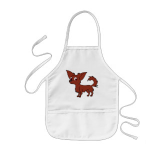 Red Chihuahua with Long Hair Kids' Apron