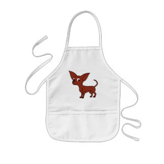 Red Chihuahua with Short Hair Kids' Apron