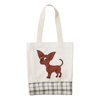 Red Chihuahua with Short Hair Zazzle HEART Tote Bag