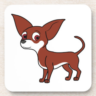 Red Chihuahua with White Markings Coaster