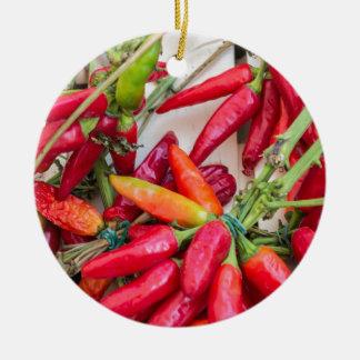 red chili ceramic ornament