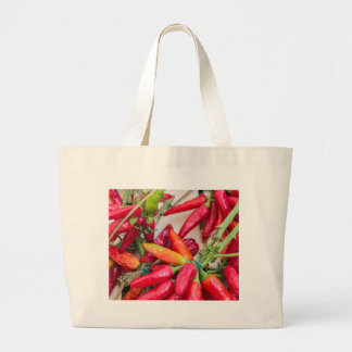 red chili large tote bag