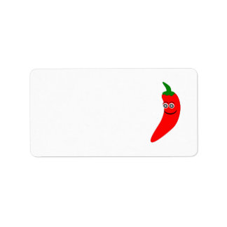 Red Chili Pepper Address Label