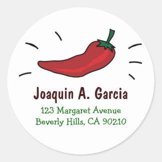 Red Chili Pepper Address Labels