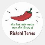 Red Chili Pepper Bookplates Stickers