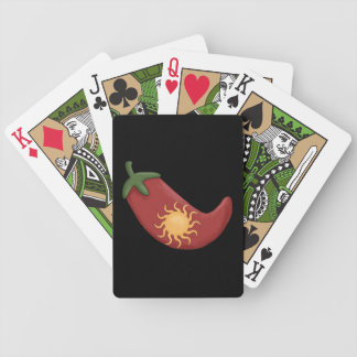 Red Chili Pepper - Chile Relleno Bicycle Playing Cards