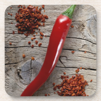 Red Chili Pepper Drink Coaster