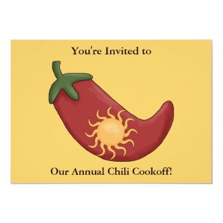 Red Chili Pepper Firecracker - Western BBQ Party Card