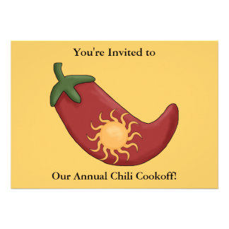 Red Chili Pepper Firecracker - Western BBQ Party Invitation