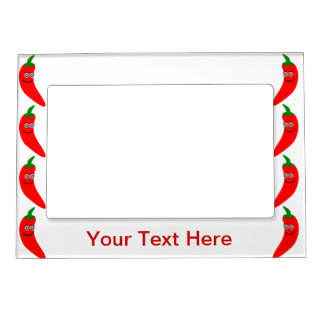 Red Chili Pepper Magnetic Photo Frame Add Own Text