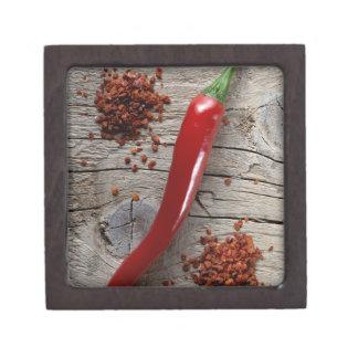 Red Chili Pepper Premium Jewelry Box