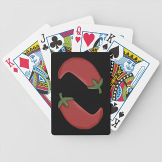 Red Chili Peppers Bicycle Playing Cards