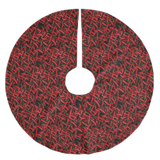 Red Chili Peppers Brushed Polyester Tree Skirt