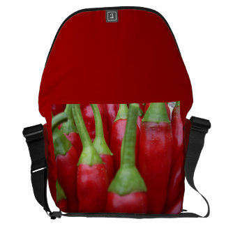 Red Chili Peppers Large Messenger Bag