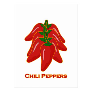Red Chili Peppers Logo Postcard