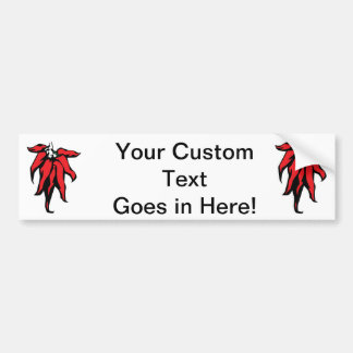 Red Chili Peppers On a String Graphic Bumper Sticker